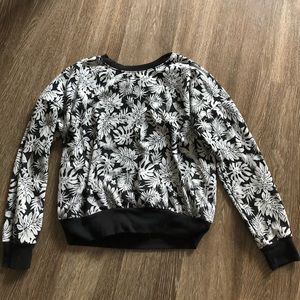 Black and White Floral Sweater